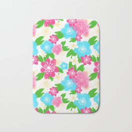 04 Pattern of Watercolor Flowers Bath Mat