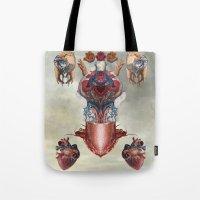 kaiju Tote Bags featuring Kaiju by DIVIDUS