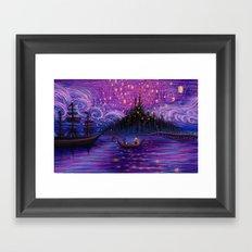 The Lantern Scene Framed Art Print