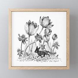 Tiny Fox Framed Mini Art Print