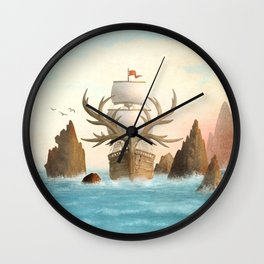 The Antlered Ship - Jacket Wall Clock