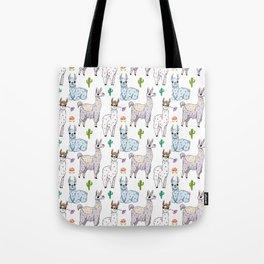 Cute and Whimsical Llama Pattern Tote Bag