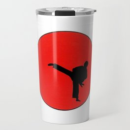 Art Of Karate Print Travel Mug