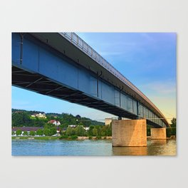 Bridge across the river Danube II | architectural photography Canvas Print