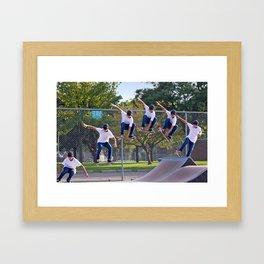 Adam Skateboarding  Framed Art Print
