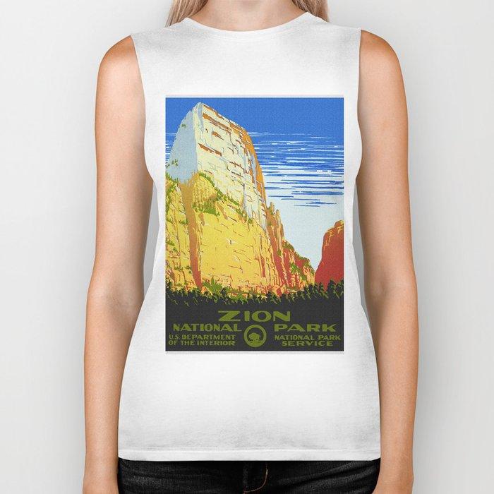 Zion National Park - Vintage Travel Biker Tank