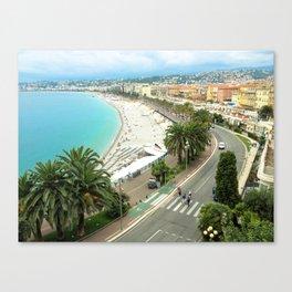Promenade des Anglais, Nice, France Canvas Print