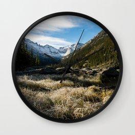 Mills Lake Morning Wall Clock