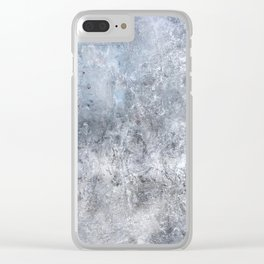 Gray Angst 1 Clear iPhone Case