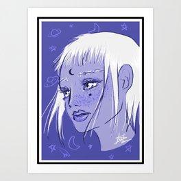 Cosmic Magical Girl Art Print