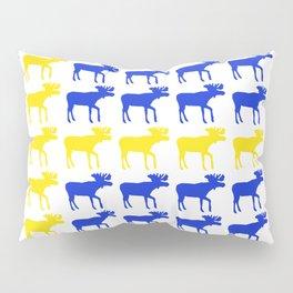 Graphic Swedish Moose Flag I Pillow Sham