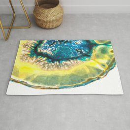 Blue and Yellow Agate Rug
