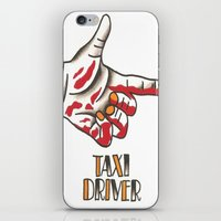 taxi driver iPhone & iPod Skins featuring Taxi Driver #2 by @VEIGATATTOOER