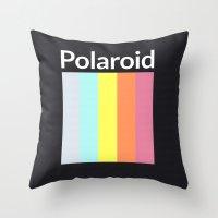 polaroid Throw Pillows featuring Polaroid by Good Sense