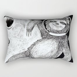 Sloth in Space Rectangular Pillow