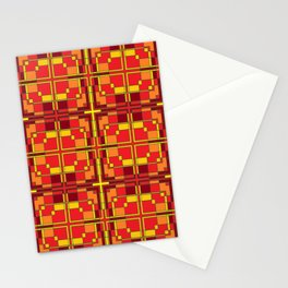 Red and Yellow Cross Pattern Stationery Cards