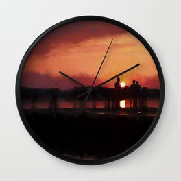 Watching the Sunset Wall Clock