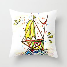 back to school *** new adventures Throw Pillow