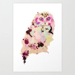 Owl of Many Colors Art Print