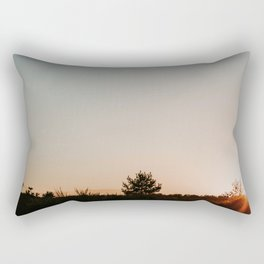 Dutch sunset purple heather at forest | Colourful Travel Photography | Veluwe, Holland (The Netherlands) Rectangular Pillow