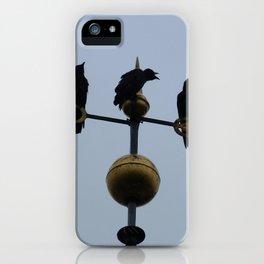 Scottish storm crows iPhone Case