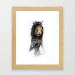 Jack o Lantern Witch Framed Art Print