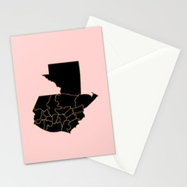 Guatemala map Stationery Cards