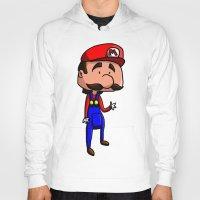 super mario Hoodies featuring Mario - Super Mario Bros by Dorian Vincenot