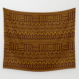 Mud Cloth on Brown Wall Tapestry