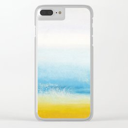 Waves and memories Clear iPhone Case