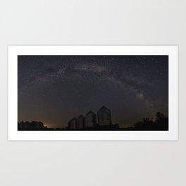 Farmyard Milky Way Art Print