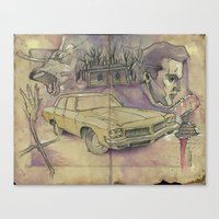 evil dead Canvas Prints featuring EVIL DEAD by Todd Spence