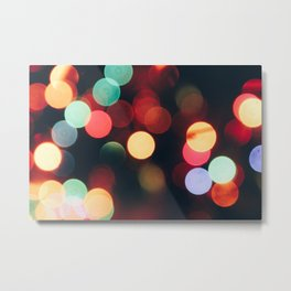 Xmas Lights Metal Print