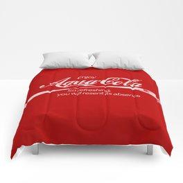 Enjoy Aqua-Cola! Comforters