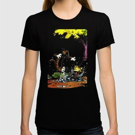 calvin hobbes funny T-shirt