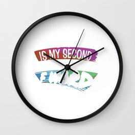 Friday Is My Second Favorite F Word Funny Sarcastic Work Working Gifts Wall Clock