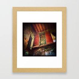 Fall Through Framed Art Print