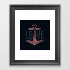Anchor Love Framed Art Print