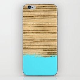 Dipped Wood - Zebrawood iPhone Skin