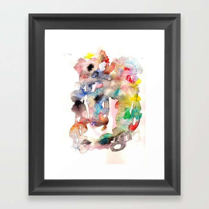 Watercolor 758 ing Framed Art Print