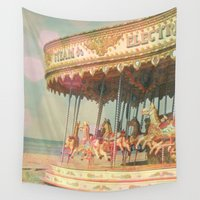 horses Wall Tapestries featuring Circling Horses by Cassia Beck