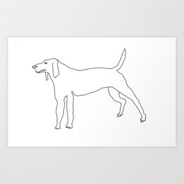 Beagle (Black) Art Print