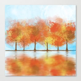 Fall watercolor Canvas Print