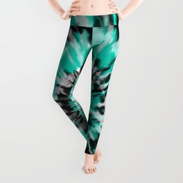 Teal Tie Dye Leggings