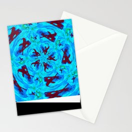 Kaleidoscope Abstract Painting Stationery Cards
