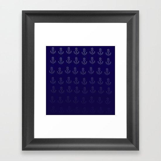 Anchors Aweigh! Framed Art Print