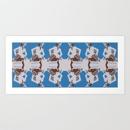 Polka Fiend Pattern Art Print