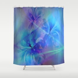 Soft  Colored Floral Lights Beams Abstract Shower Curtain