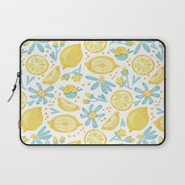 Lemon pattern White Laptop Sleeve