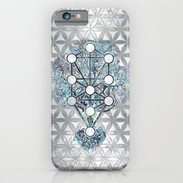 Kabbalah The Tree of Life Abalone shell and pearl iPhone Case